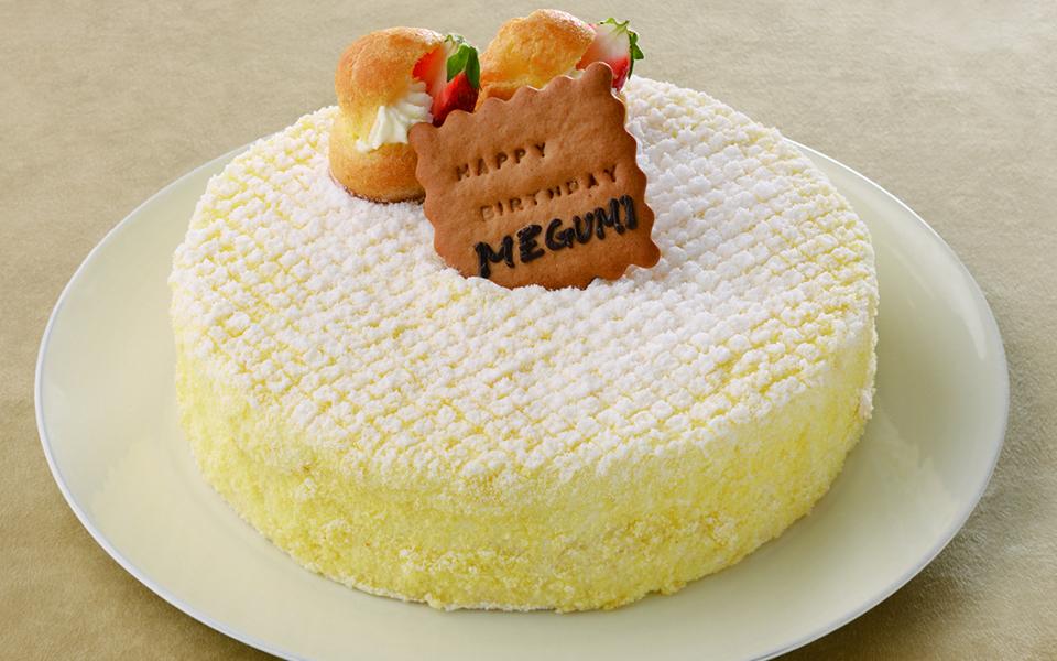 ドゥーブルの誕生日ケーキの画像